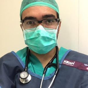 Juan Camilo Meza, an anaesthetist at Mataró hospital near Barcelona.