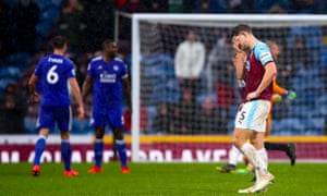 James Tarkowski looks dejected following Burnley's recent defeat to Leicester City at Turf Moor. Sean Dyche's men are well and truly in a relegation dogfight