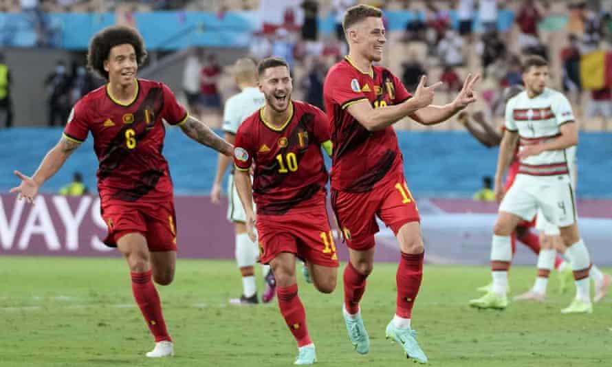 Thorgan Hazard strike sinks Portugal and puts Belgium in quarter-finals |  Euro 2020 | The Guardian