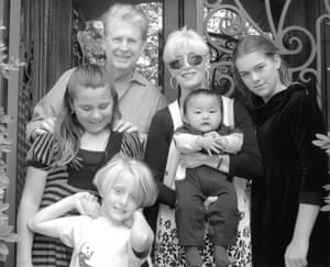 Beach Boy Brian Wilson with wife and family in 2009