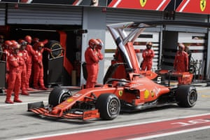 Ferrari driver Sebastian Vettel is forced to have a stop-go penalty.