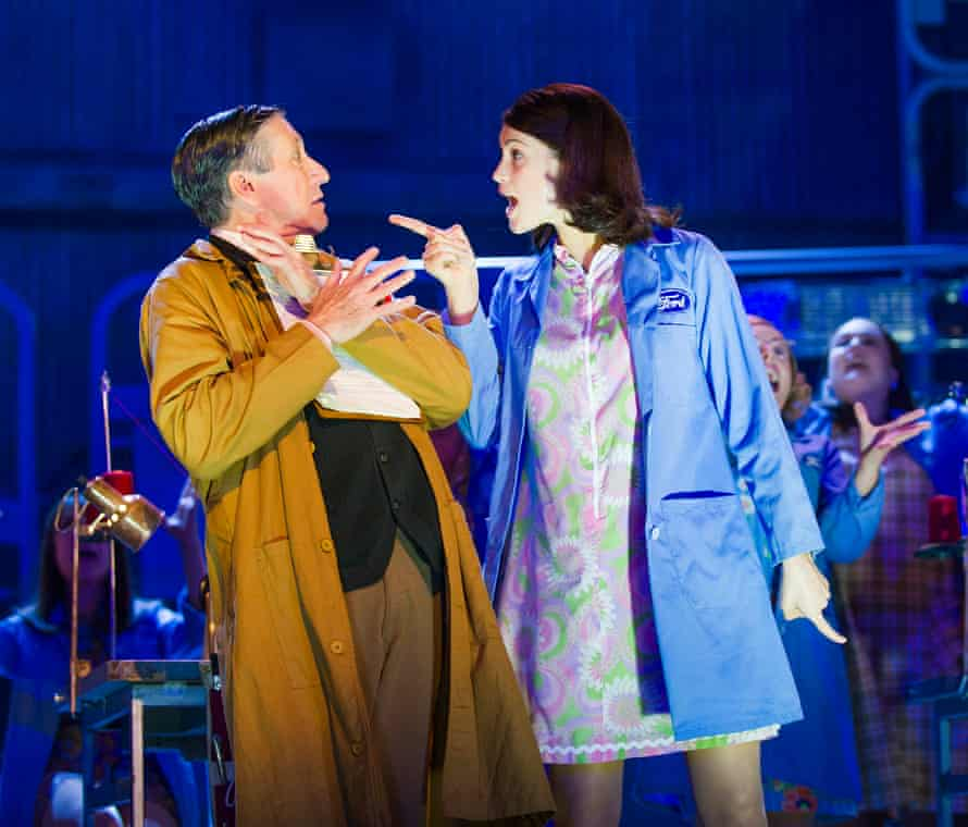 David Cardy and Gemma Arterton in Made In Dagenham at the Adelphi, London.