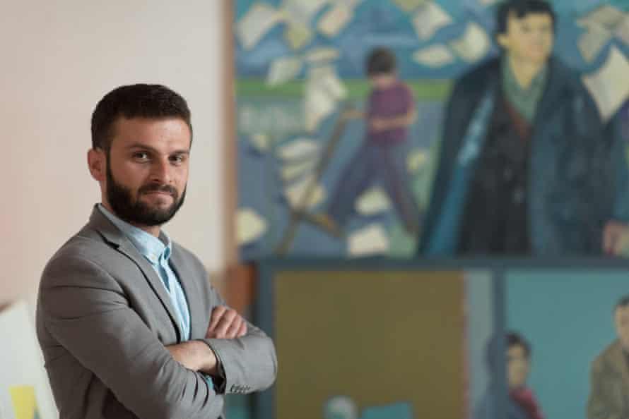 Visual artist Sead Kazanxhiu.