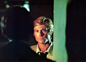 Robert Redford in a still from the film All The Presidentds Men (1976)