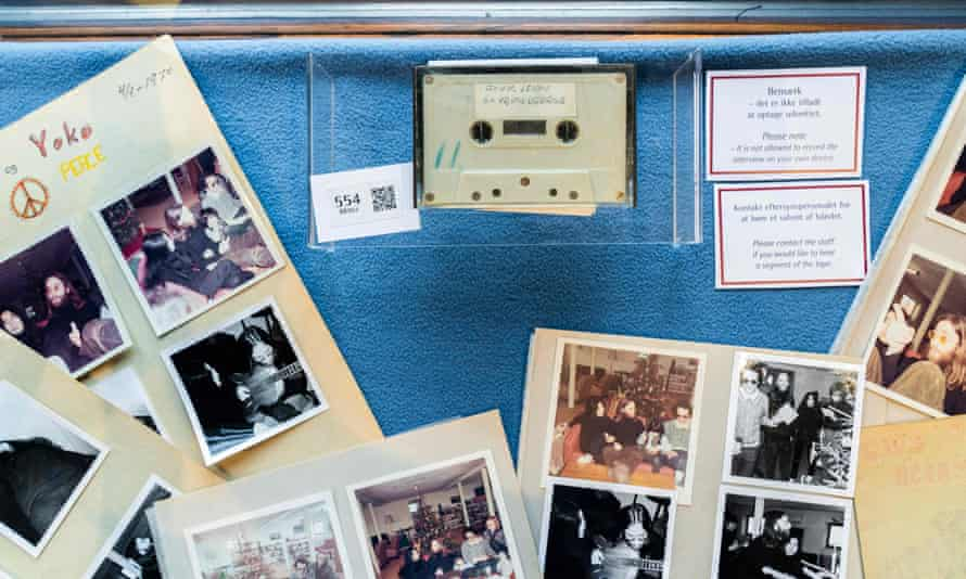 The cassette is being auctioned alongside Polaroid photos.