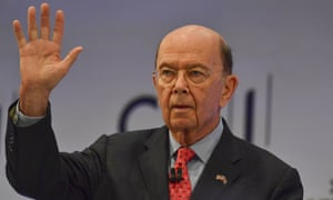 Wilbur Ross waves to the audience at the CBI conference in London.