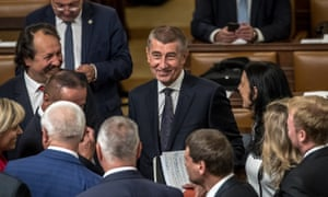Czech Republic's prime minister, Andrej Babiš in parliament in Prague for the confidence vote.