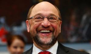 Former European parliament president Martin Schulz attends an SPD meeting in Berlin