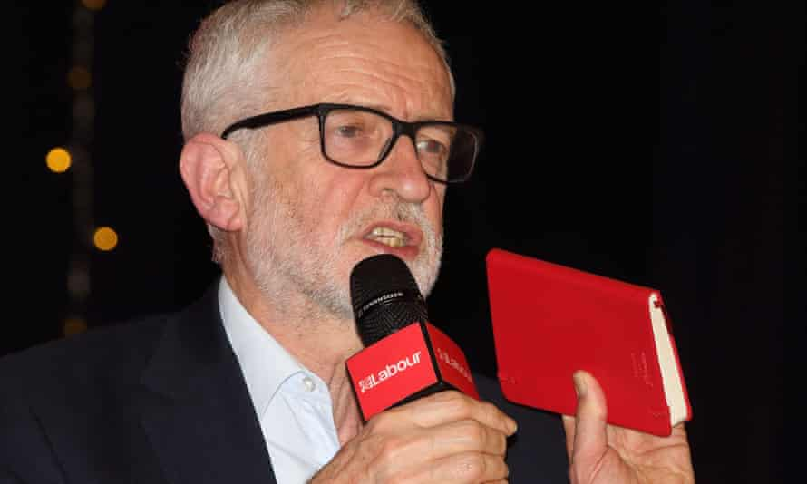 Jeremy Corbyn delivers a speech on the final day of the 2019 general election campaign.