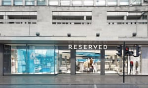 The Reserved store on Oxford Street.