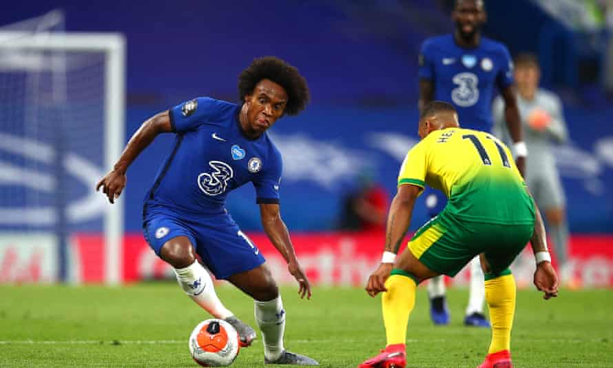 Willian in action against Norwich