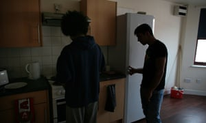 Two teenage boys in a children's home