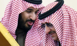 Mohammed bin Salman with Crown Prince Mohammed bin Nayef during the 136th Gulf Cooperation Council summit in Riyadh.