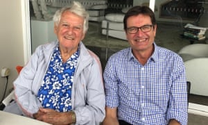 Former Labor PM Bob Hawke with his friend and former union leader Greg Combet