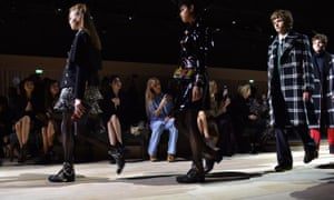 The Burberry fashion show in London last month