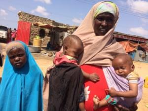 Barwako Aden Berda and her children.