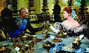 Yul Brynner with Deborah Kerr in the 1956 film version of The King and I. He first played the role on stage in New York in 1951.