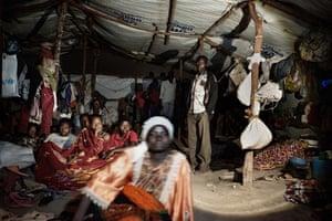 One of the mass shelters in Nyarugusu refugee camp, Tanzania