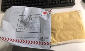 The package sent to Waterloo station.