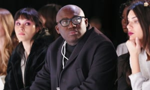 Edward Enninful on the front row at February's New York fashion week.