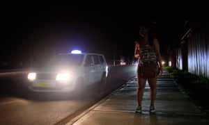 Lisa, a sex worker and drug user, on the Martintar strip in Nadi.