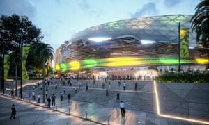 The design of the new Allianz stadium at Moore Park