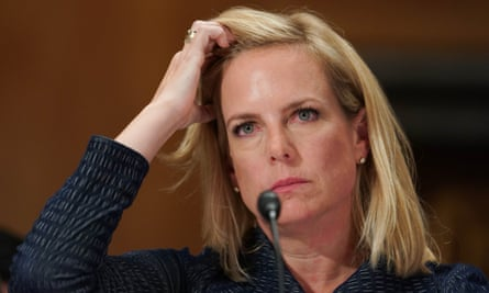 Kirstjen Nielsen said: 'I do not believe I've seen that conclusion that the specific intent was to help President Trump win. I'm not aware of that.'