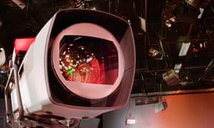 A camera in a television studio
