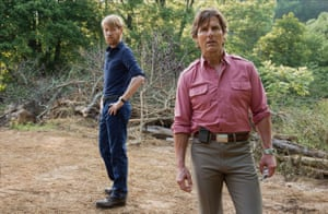 Tom Cruise, right, with Domhnall Gleeson in American Made.