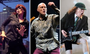 Aussie rock royalty: Chrissie Amphlett of Divinyls, Peter Garrett of Midnight Oil and Angus Young of AC/DC.