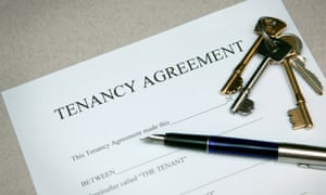 Tenancy agreement document and house keys
