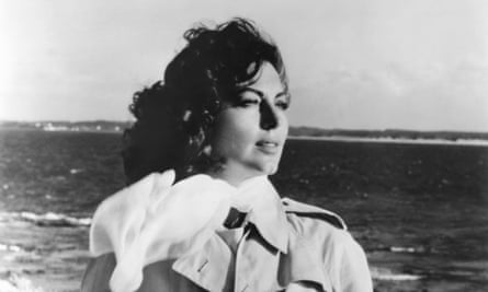 American actor Ava Gardner on the set of On the Beach, directed by Stanley Kramer.