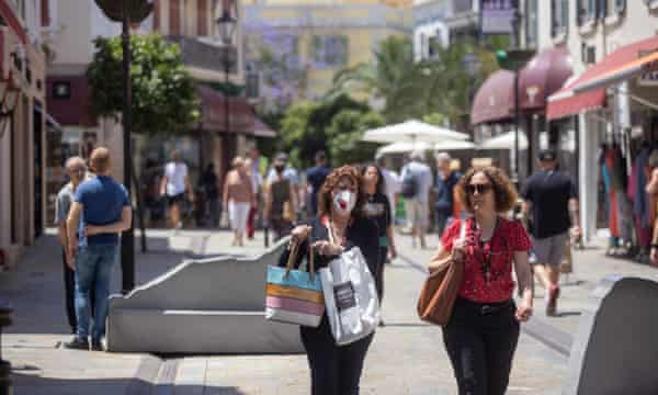Gibraltarian women shopping