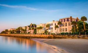 Historic homes on The Battery in Charleston, South Carolina, USA