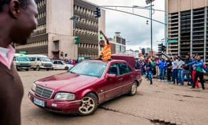 Celebrations in downtown Harare