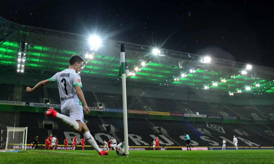 Gladbach's derby game against Cologne was played on 11 March without fans, the last match before the Bundesliga shut down.