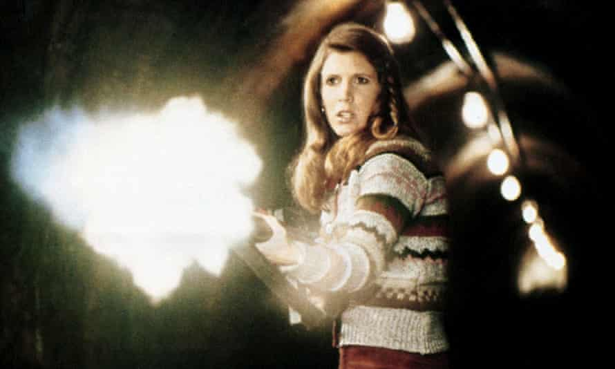 Carrie Fisher in The Blues Brothers, where Dan Aykroyd says they fell in love.