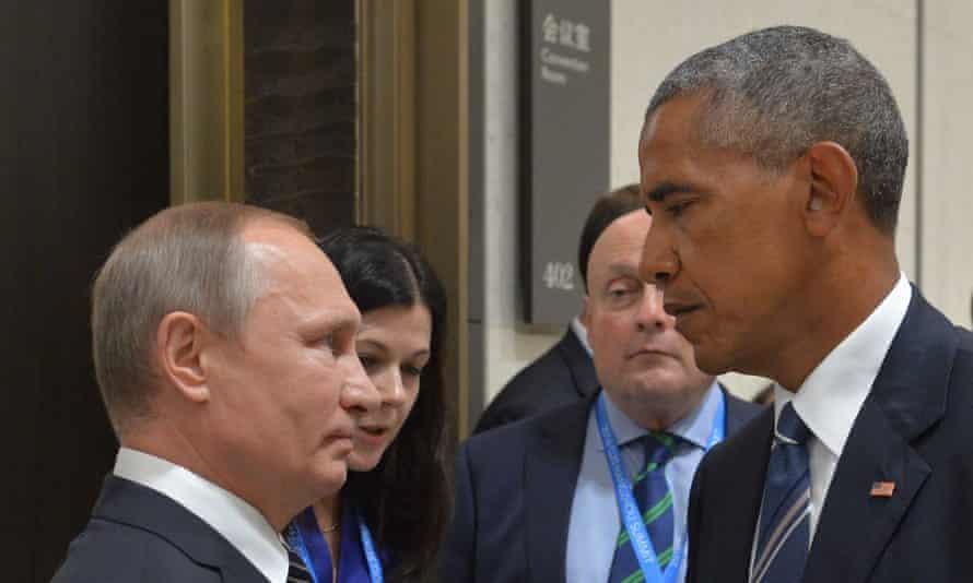 Vladimir Putin and Barack Obama meet at the G20 in China