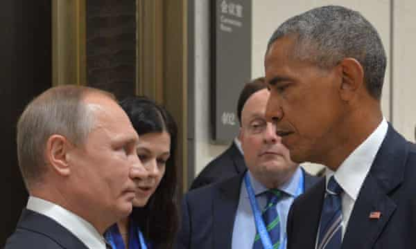 Putin (left) and Obama on the sidelines of the G20 summit in China.