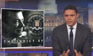 '[Mueller will] take you down for any crime, including pre-campaign financial crimes, aka Donald Trump's career,' said Trevor Noah
