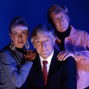 Sarah Greene, Michael Parkinson and Mike Smith in 1992's Ghostwatch