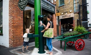 One of the new drinking fountains installed in Borough Market.