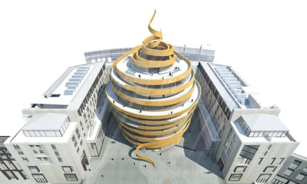 The hotel at the centrepiece of the £850m Edinburgh St James development has been dubbed the 'ribbon hotel' – though some locals call it 'the turd'.