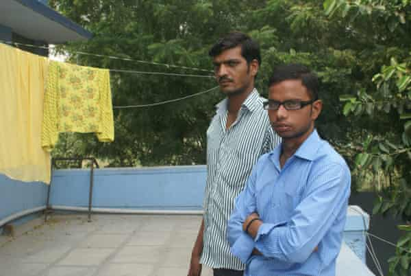 Yogesh and Bijenda Singh, who are receiving treatment for leprosy