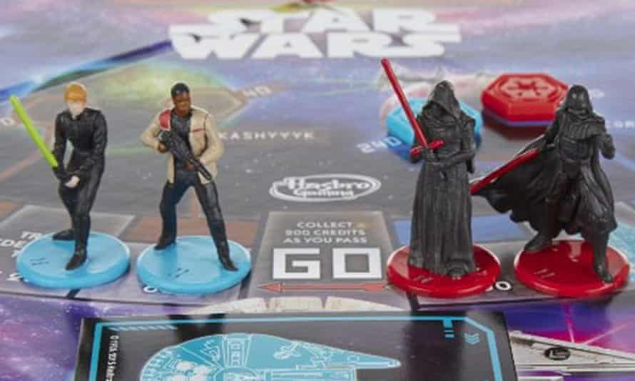 The new edition of Star Wars monopoly, featuring only male playable characters.