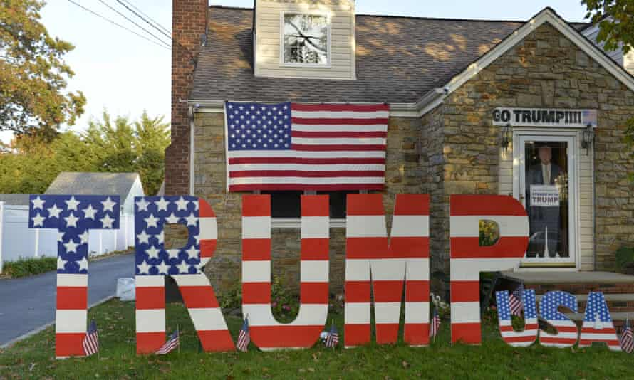 The house of a Trump supporter, Long Island, New York November 2016.