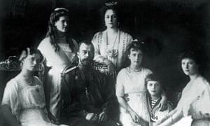 Tsar Nicholas II with his wife and their five children four years before the family was murdered in 1918