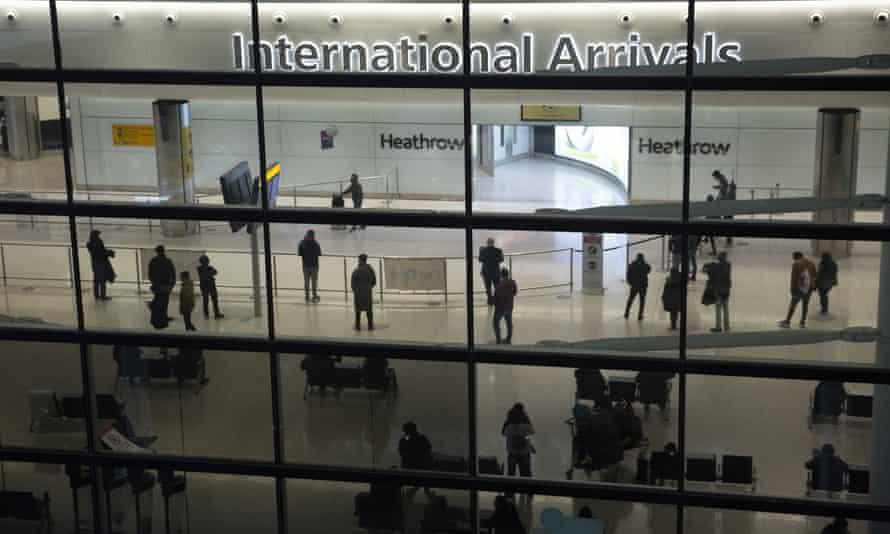 Arrivals terminal at Heathrow airport