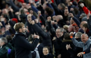 Whereas Jurgen Klopp and the Liverpool fans look pretty chuffed with how things are going.