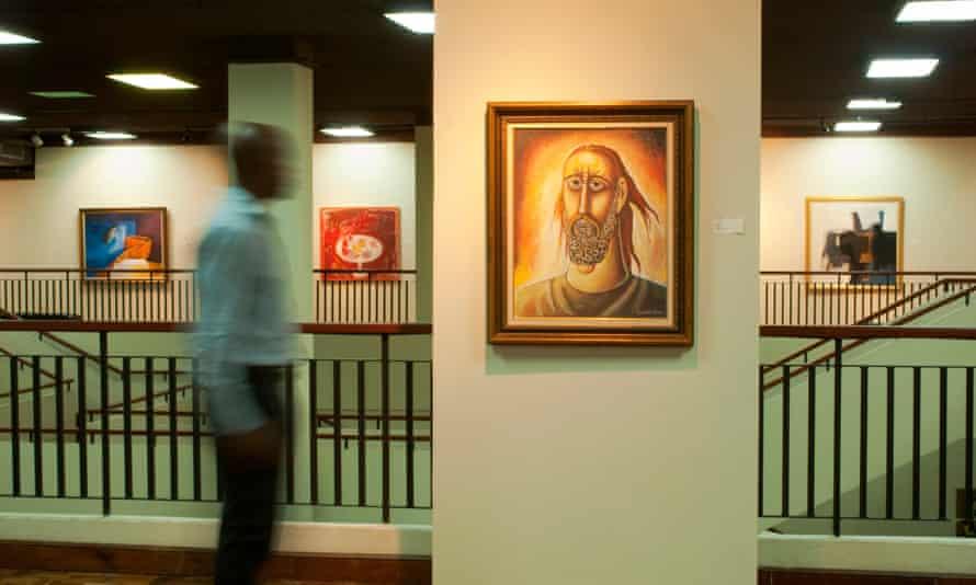 Interior of National Gallery.Kingston, Kingston, Jamaica, Caribbean